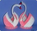 Пара лебедей и как сделать клюв.