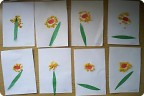 Цветочки из салфеток