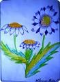 Цветы фломастерами