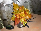 розы из тополинных листьев делала еще в октябре