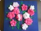 Еще салфеточные цветы)