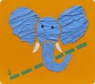Сененко Серёжа. Слон из рельефной бумаги