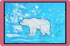 Дети рисуют животных севера