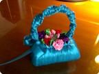Поздравление: корзинка из атласных лент Ленты День учителя.