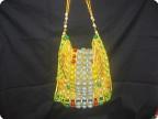 Плетение: Пляжная сумочка Бисер, Материал бросовый.  Фото 1.