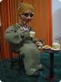 Чаепитие-скульптурно текстильная кукла