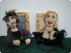 Красавица и хулиган- текстильные барельефные куклы