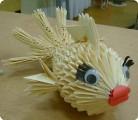Источник.  Вот такая рыбка у меня получилась. n-eonila.  Страна мастеров.  Автор.  Золотая рыбка Оригами модульное.