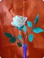 Нежность розы Бумагопластика.  Страна мастеров.  Белая мышка.