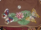 Декор предметов Вышивка: вышивка бисером на сумочке Бисер.