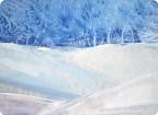 Энкаустика.Зимний пейзаж.