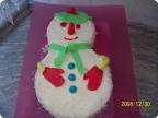 Торт ..Снеговик..