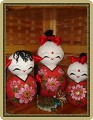 Три милашки - куклы неваляшки.