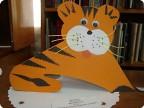 Аппликация из бумаги своими руками тигр
