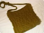 Декор предметов Вязание спицами: СУМКА .  Вязание на спицах.  Пряжа.
