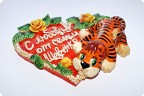 Сердце с тигром под заказ