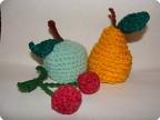 Игрушка Вязание крючком: Вязаные фрукты.  Пряжа.