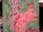 Белочка нарисованная гуашью