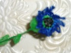 Поделка, изделие Вязание крючком: ВАСИЛЁК (поделка из целлофана...