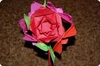 Кусудама из простых роз оригами