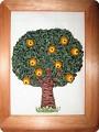 Вышивка: Апельсиновое дерево Бисер, Бусинки, Канва, Ленты Отдых.