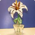 Бисероплетение: Белая лилия Бисер 8 марта.