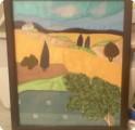Картина панно рисунок Аппликация Лоскутное шитье Ткань.