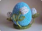 Бисероплетение: Яйцо подснежники Бисер Пасха.  Фото 1.