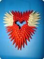 Модульное оригами - Силуэтная рамка сердечко малое МК схема.