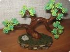2. Это мое первое бисерное дерево.  Собирала его по МК: http://blog.kp.ru/users/neferit/post98411678.