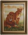 Техника: Вышивка крестом Пара львов Подарок для iv.olga Вышивка крестом Автор: Lighta Источник: Страна Мастеров.