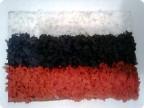 Триколор - Российский флаг (торцевание на пластилине)