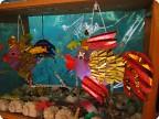 Оформление макета аквариума в детском саду.
