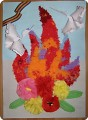 Как сделать огонь из цветов 114