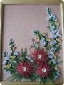 Картина, панно Квиллинг: Цветы Бумага.  Фото 1.