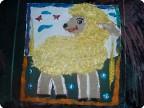 1.А мы сделали такую овечку, идею и шаблон брала тут у девченок , малость изменили вот ,что вышло.