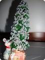 Бисероплетение: Маленькая елочка Бисер Новый год.  Фото 1.