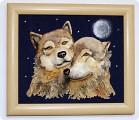 Лепка, Роспись: Пара волков. Нежность