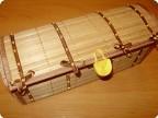 Бамбуковый сундучок для мелочей.