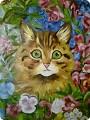 Кошка масляными красками