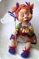 Игрушка Валяние (фильцевание): валяная кукла Катя Шерсть.