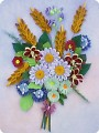 Картина, панно Квиллинг: Букет полевых цветов Бумага.  Фото 1.