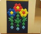 Мозаика из модулей оригами.Ромашки.