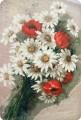 Ромашки и тюльпаны. Вышивка.