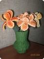 Вазочка с лилиями