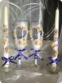 Свадебные свечи бокалы своими руками мастер класс