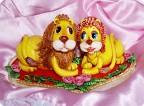 Лепка: Львы на сердце