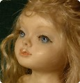 Голова неоконченной куклы из горячего пластика Fimo