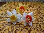 Цветы из флиса