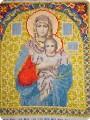 Икона Пресвятая Богородица из бисера